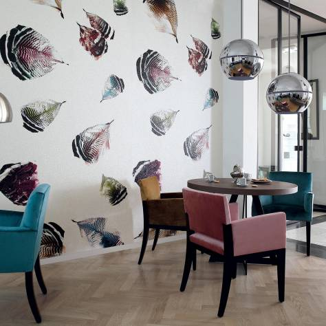 Casamance  Oxymore Two Wallpanels Plumes De Paon Wallpanel - Multicouleurs - 77580279
