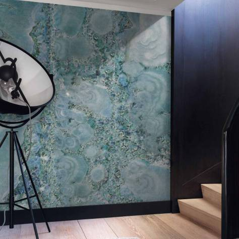 Casamance  Oxymore Two Wallpanels Diamantee Wallpanel - Bleu - 77636632