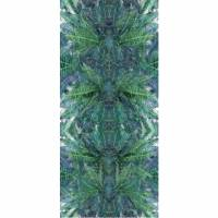 Jungle Silk Wallpanel - Bleu