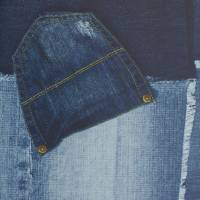 Patchwork Cowboy Wallpaper - Jeans