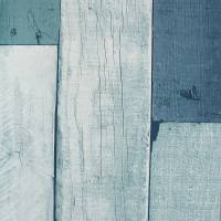 Wooden Wall Wallpaper - Aqua