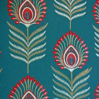 Sula Wallpaper - Teal/Pink