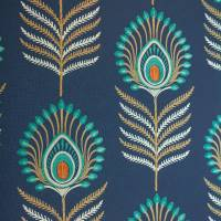 Sula Wallpaper - Midnight/Teal