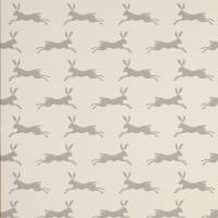 March Hare Wallpaper - Charcoal