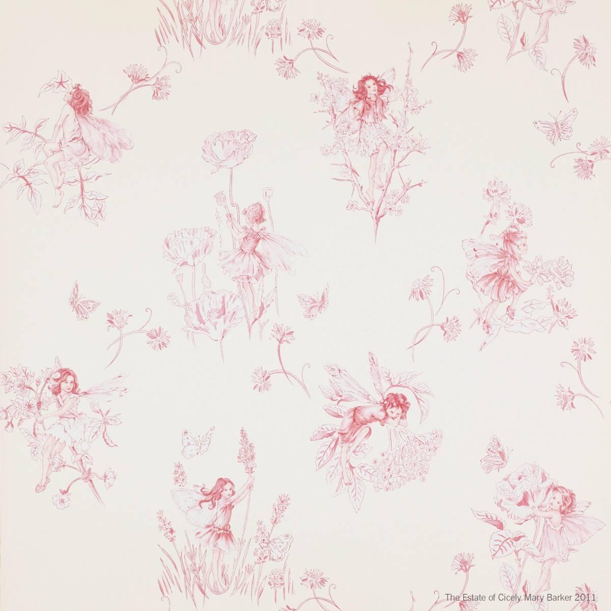 Jane Churchill Nursery Tales Wallpapers Meadow Flower Fairies Wallpaper