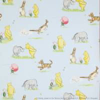 Winnie the Pooh and Friends Wallpaper - Blue
