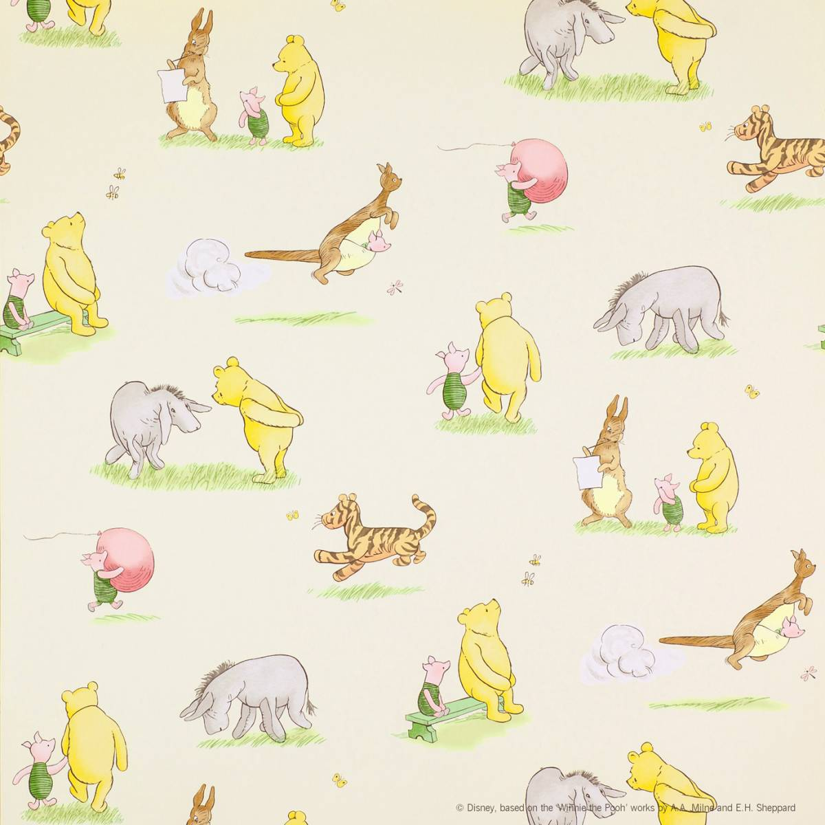 Winnie The Pooh And Friends Wallpaper Vintagemulti J127w 04