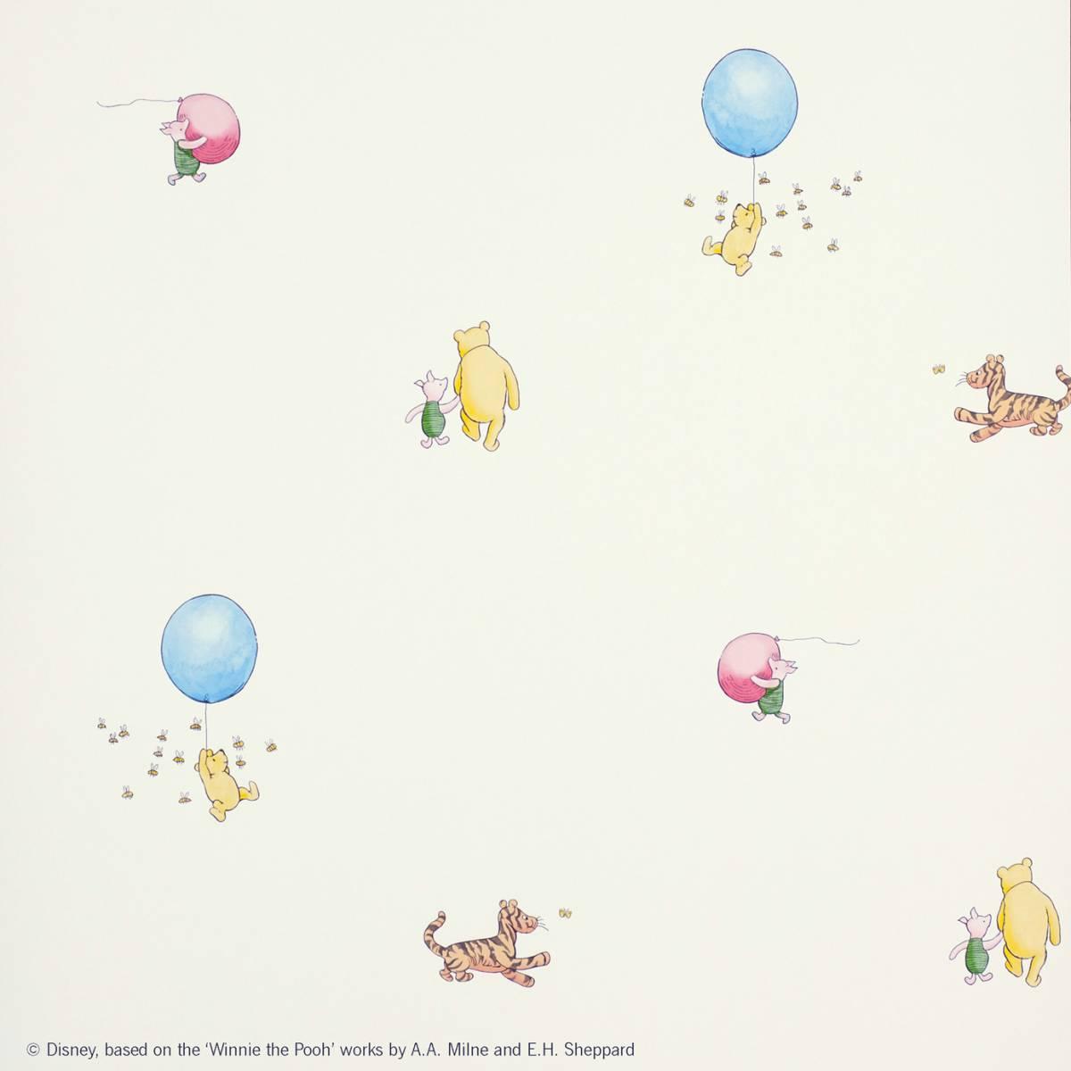 Wallpaper Winnie The Pooh: Winnie The Pooh Balloon Wallpaper