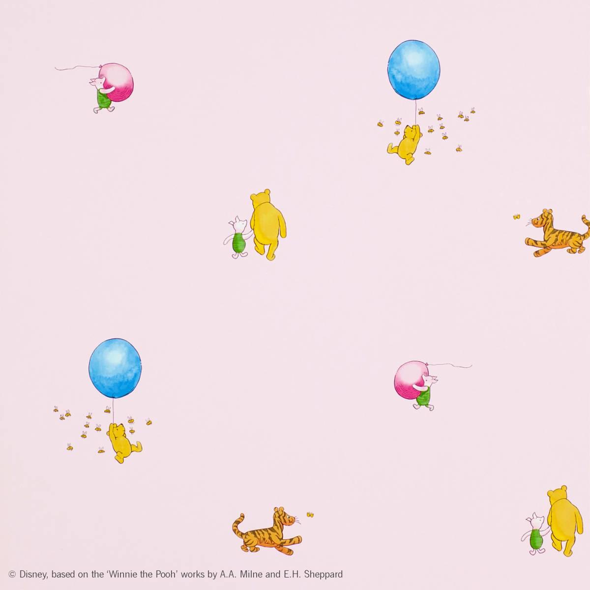 Jane Churchill Winnie The Pooh Balloon Wallpaper Pinkproduct Code J128w 03
