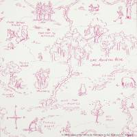 One Hundred Acre Wood Map Wallpaper - Pink