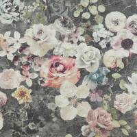 Marble Rose Wallpaper - Charcoal