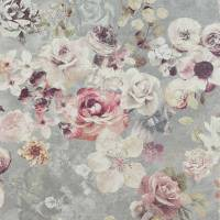 Marble Rose Wallpaper - Silver