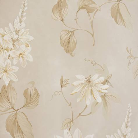 Colefax & Fowler  Baptista Wallpapers Passiflora Wallpaper - Stone - 07155/03