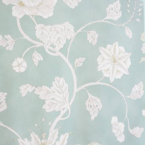 Colefax & Fowler  Baptista Wallpapers Lotus Trail Wallpaper - Aqua - 07160/02
