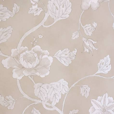 Colefax & Fowler  Baptista Wallpapers Lotus Trail Wallpaper - Silver - 07160/03