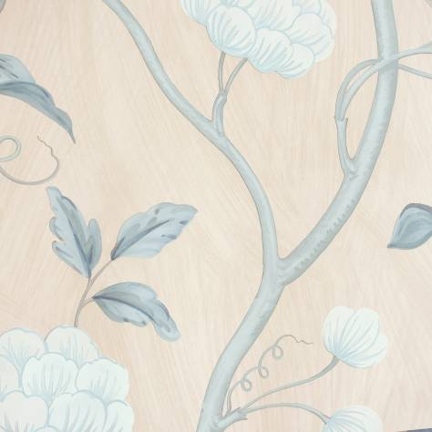 Colefax & Fowler  Baptista Wallpapers Snow Tree Wallpaper - Blue/Cream - 07949/09