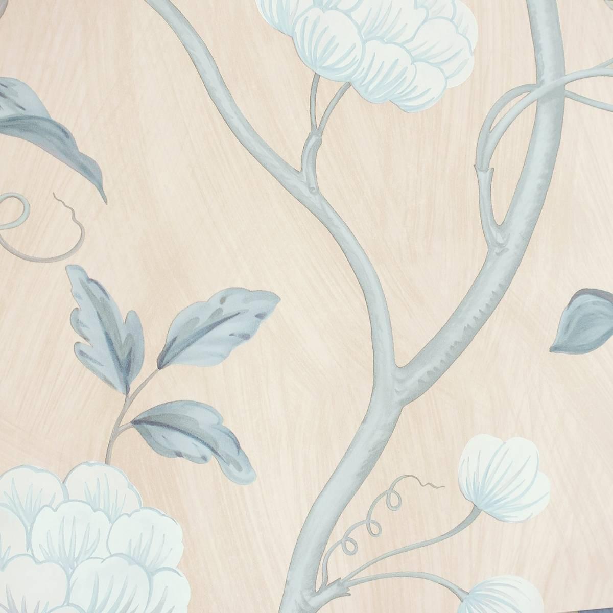 Snow Tree Wallpaper Blue Cream 07949 09 Colefax