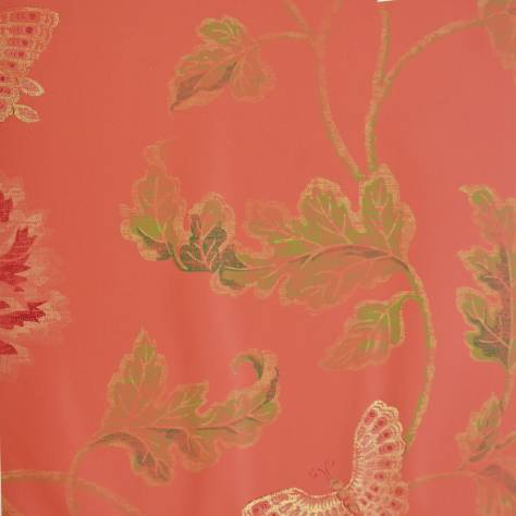 Poppy And Butterfly Wallpaper Red 07952 05 Colefax