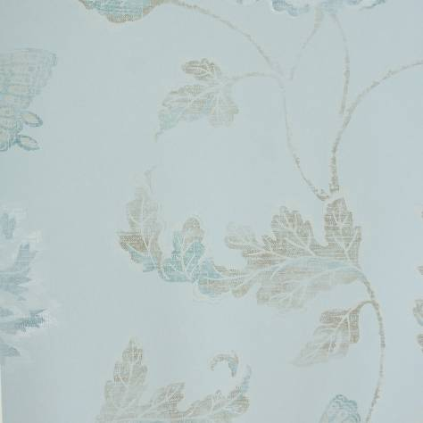 Colefax & Fowler  Baptista Wallpapers Poppy and Butterfly Wallpaper - Blue - 07952/08