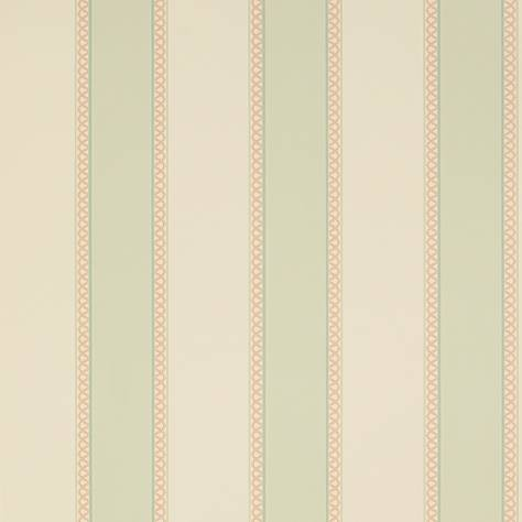 Colefax & Fowler  Mallory Stripes Wallpapers Chartworth Stripe Wallpaper - Aqua Pink - 07139/07