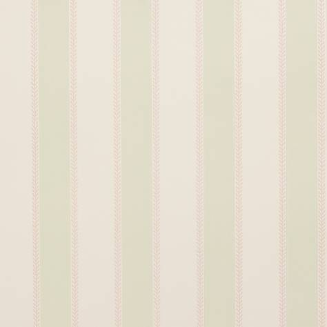 Colefax & Fowler  Mallory Stripes Wallpapers Graycott Stripe Wallpaper - Pink Green - 07190-02
