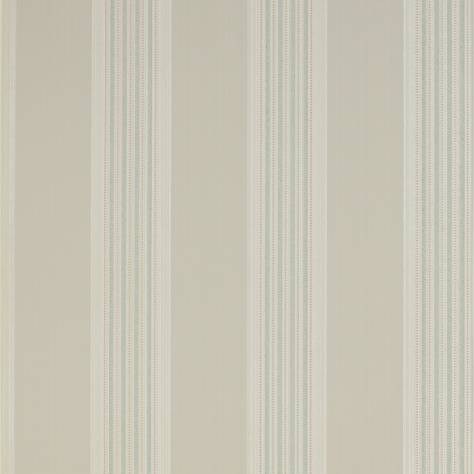 Colefax & Fowler  Mallory Stripes Wallpapers Tealby Stripe Wallpaper - Stone Aqua - 07991/07