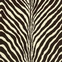 Bartlett Zebra Wallpaper - Chocolate