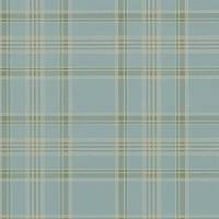 Deerpath Trail Plaid Wallpaper - Mist