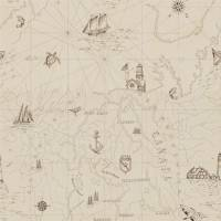 Searsport Map Wallpaper - Bone