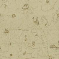 Searsport Map Wallpaper - Parchment