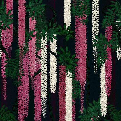 Christian Lacroix L'Odyssee Fabrics and Wallpapers Wisteria Alba Wallpaper - Magenta - PCL7032/01