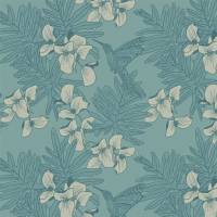 Hummingbird Wallpaper - Seafoam