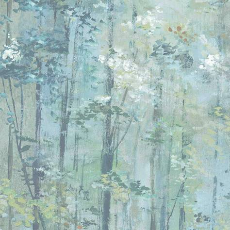 1838 Wallcoverings Aurora Wallpapers Glade Wallpaper - Seafoam - 1804-118-02