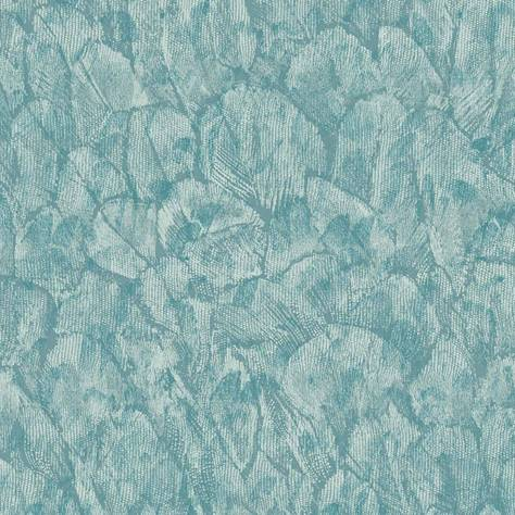 1838 Wallcoverings Aurora Wallpapers Tranquil Wallpaper - Seafoam - 1804-119-03