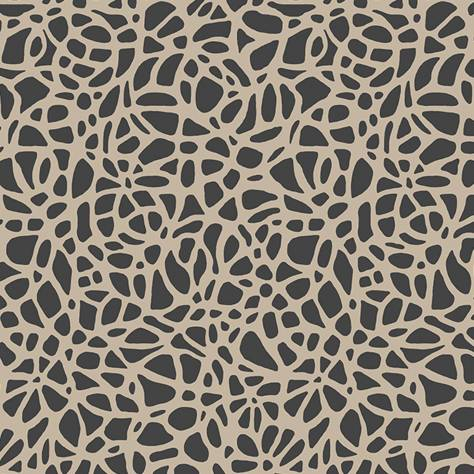 1838 Wallcoverings Aurora Wallpapers Pebble Wallpaper - Jet Flock - 1804-121-01