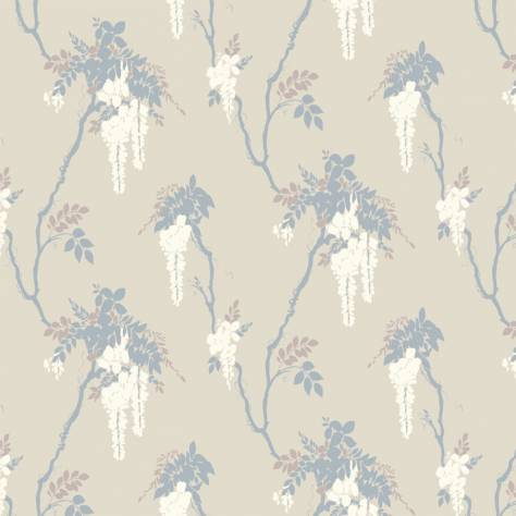 1838 Wallcoverings Camellia Wallpapers Leonora Wallpaper - Denim - 1703-109-02