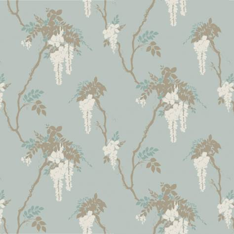 1838 Wallcoverings Camellia Wallpapers Leonora Wallpaper - Teal - 1703-109-03