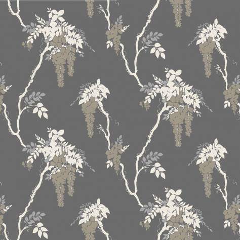 1838 Wallcoverings Camellia Wallpapers Leonora Wallpaper - Grey - 1703-109-05