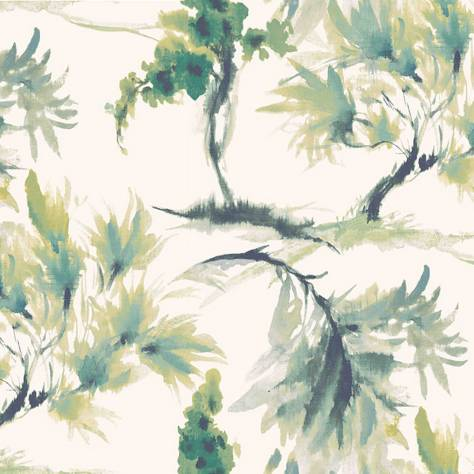 1838 Wallcoverings Capri Wallpapers Mimosa Wallpaper - Olive Green - 1905-124-04