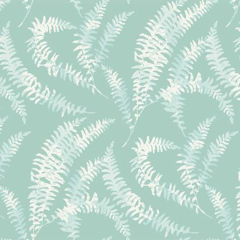 1838 Wallcoverings Capri Wallpapers Felci Wallpaper - Aquamarine - 1905-125-01
