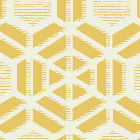 1838 Wallcoverings Capri Wallpapers Capri Wallpaper - Ochre - 1905-126-05