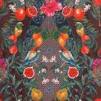 Talavera Wallpaper - Plum / Rich Mint
