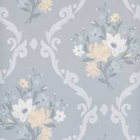 Almudaina Wallpaper - Grey / Pale Lemon / Ice