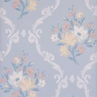 Almudaina Wallpaper - Pale Grey / Buttermilk / Blush