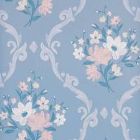 Almudaina Wallpaper - Powder Blue / Cream / Blush