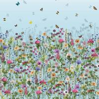 Deya Meadow Wallpaper - Sky Blue / Multi