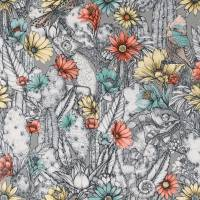 Cactus Garden Wallpaper - Pale Taupe / Yellow / Jade