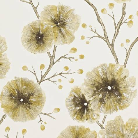 Harlequin Amazilia Wallpapers Kabala Wallpaper - Mustard - 111080