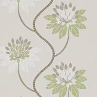 Eloise Wallpaper - Avacado/Warm Grey