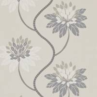 Eloise Wallpaper - Powder Blue/Harbour Grey